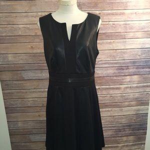 Faux Leather Black dress size 14